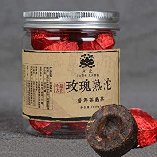 Yunnan Rose Puerh tea 100g (0.22LB) プーアル茶こうちゃ紅茶中国茶飲料茶葉お茶canned Rose Puer small Tuocha ripe tea organic tea Pu'er tea Black...