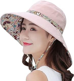 HINDAWI Sun Hats Women Packable Sun Hat Wide Brim UV Protection Beach Sun Cap