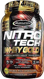 Muscletech ニトロテック 100% ホエイゴールド(アイソレート+ペプチド)(ダブルリッチチョコレート)(1kg)[海外直送品]