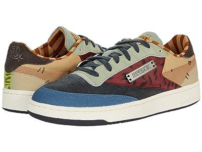 Reebok Lifestyle Reebok X Kung Fu Panda Club C 85 (Gravel/Classic White/Beige) Shoes
