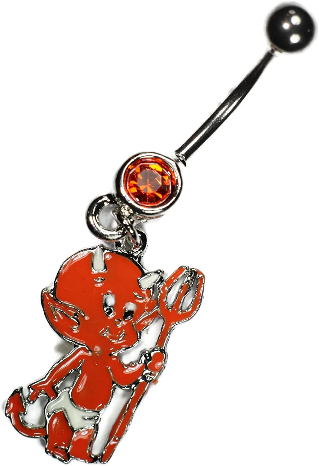 Baby Devil Dangle Belly Button Navel Ring Body Piercing Jewelry