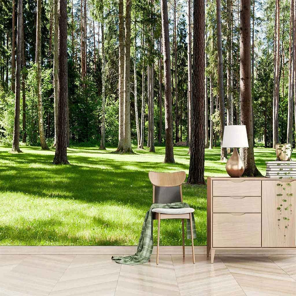 FVGKYS Free shipping / New Wall Art Mural Custom 3D Woods Stickers Lawn Green S Max 80% OFF