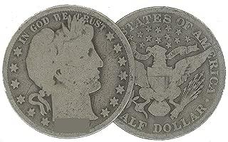 1914 S Barber Half Dollar 50C Average Circulated