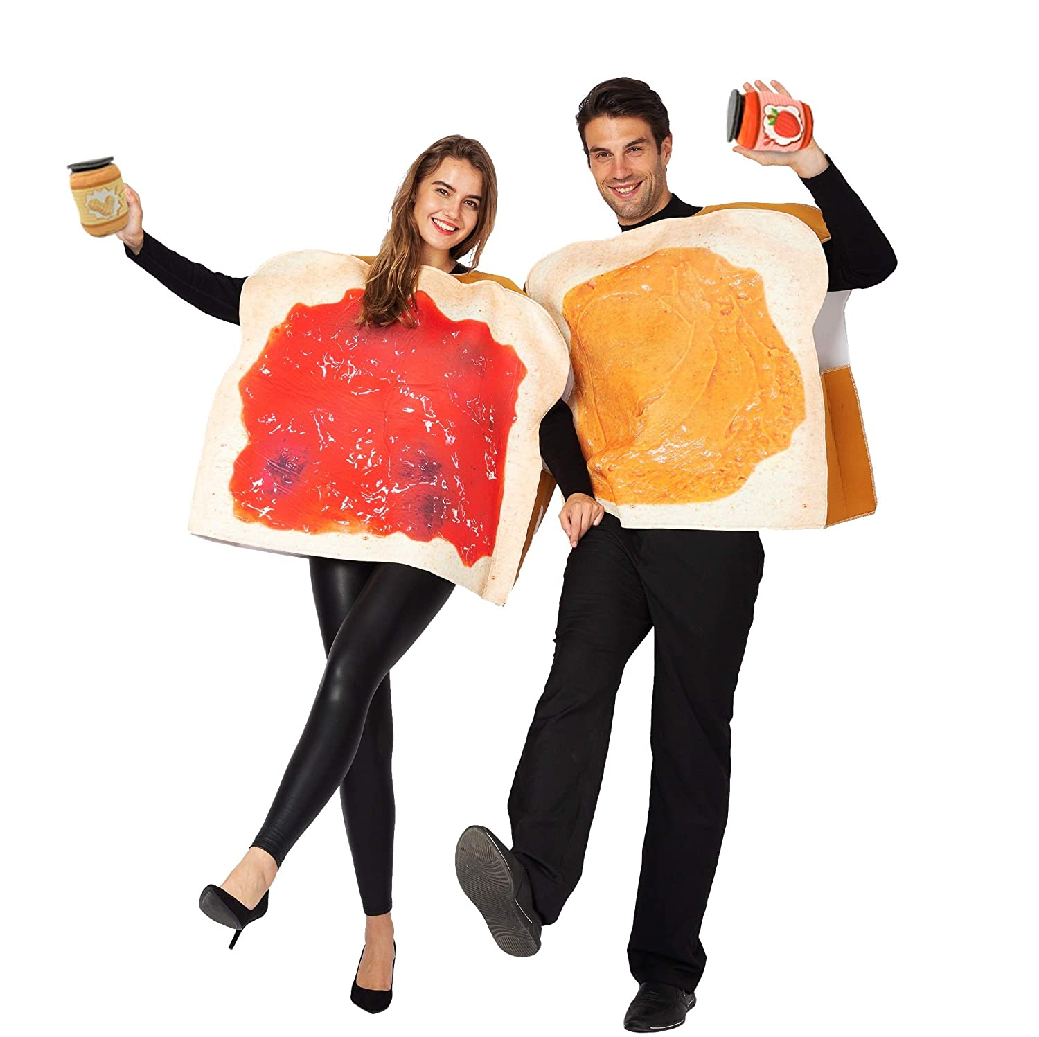 Peanut Butter and Jelly PBJ Costume Adult Couple Set
