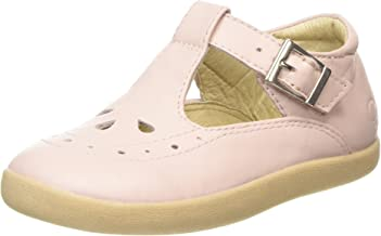 Old Soles Girl's Tea Shoe Leather T Strap Buckle Mary Jane Shoe