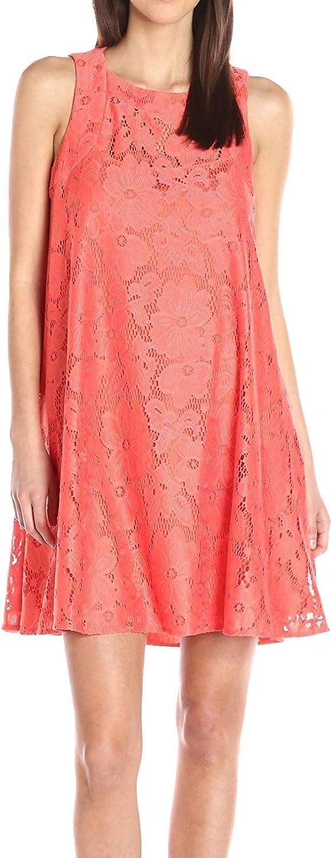 Donna Morgan Women's Sleeveless Tent Lace Dress