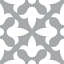 Mi Alma Pegatinas decorativas para azulejos grises, 24 unidades, pegatinas para azulejos de baño y cocina, pegatinas de vi...