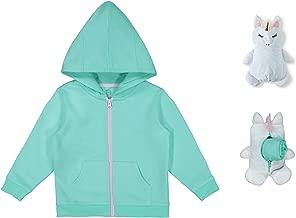 Girls/Boys' 2T-5TAnimal Critters Packable Plush Zip Up Hoodie Easter