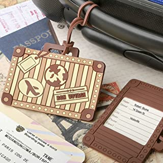 VINTAGE SUITCASE DESIGN LUGGAGE TAG FAVOR by FASHIONCRAFT (1)