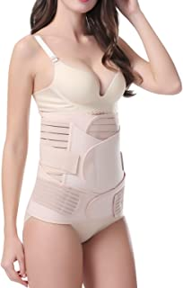 Athaelay Postpartum Belly Wrap Body Recovery Shapewear Back Support Belt Pelvis Band