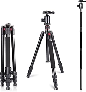 Neewer Aluminum Alloy 64 inches/162 Centimeters Camera Travel Tripod Monopod with 360 Degree Ball Head,1/4 inch Quick Shoe...