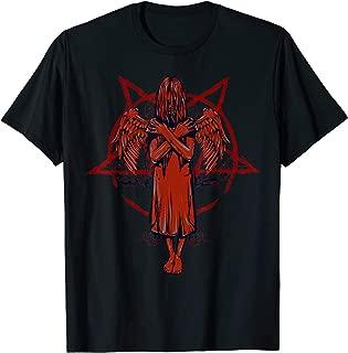 Satanic Dead Girl Angel Baphomet Weeping Demon Goth Punk T-Shirt