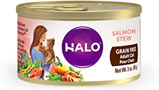 Halo Grain Free Natural Wet Cat Food, Salmon Recipe (Pack of 12)