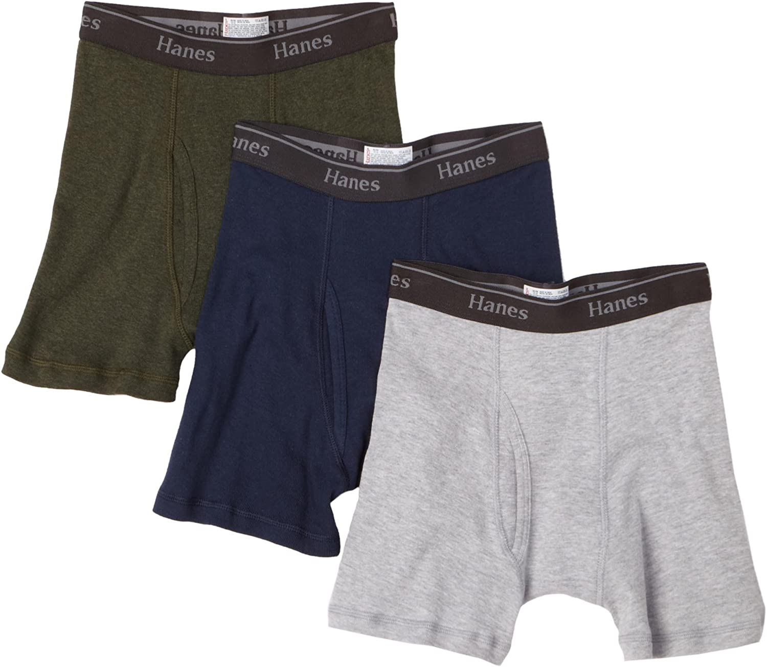 Hanes Big Boys' Hanes Classic Waistband Boxer Brief (Pack of 3)