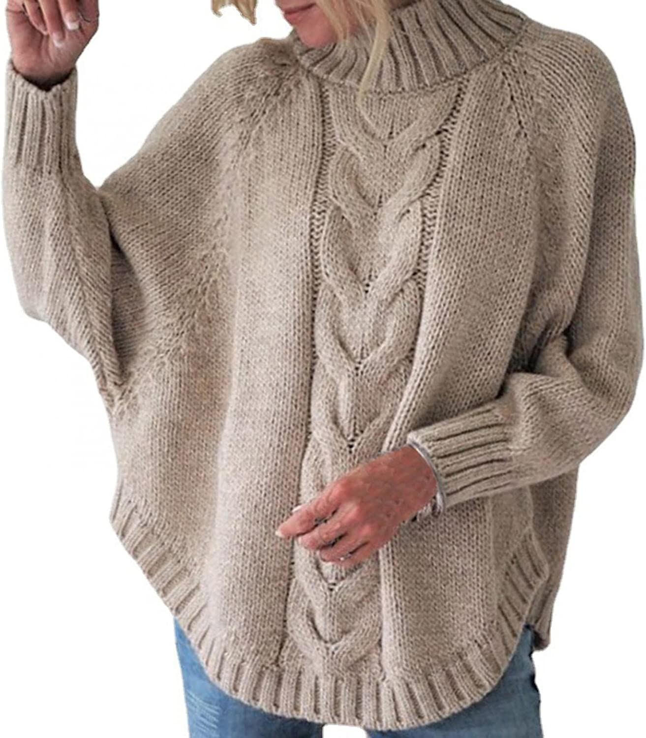 Gibobby Sweaters for Women,Women's Oversized Sweaters V Neck Long Sleeve Loose Blouses Knitted Pullover Warm Sweaters