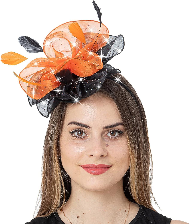 FELIZHOUSE Fascinator Ranking TOP18 Hats Feather Satin Tea Derby Part 2021 model Kentucky