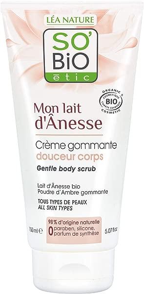 SO BiO etic Soins Visage Corps Mon Lait d Anesse Creme Gommage Douceur 150