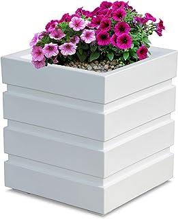 Mayne Inc Freeport Patio Planter, 18 by 18-Inch, White