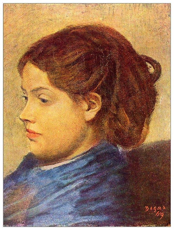 ArtPlaza TW93085 Degas Edgar - Portrait of Mademoiselle Dobigny Decorative Panel 27.5x35.5 Inch Multicolored