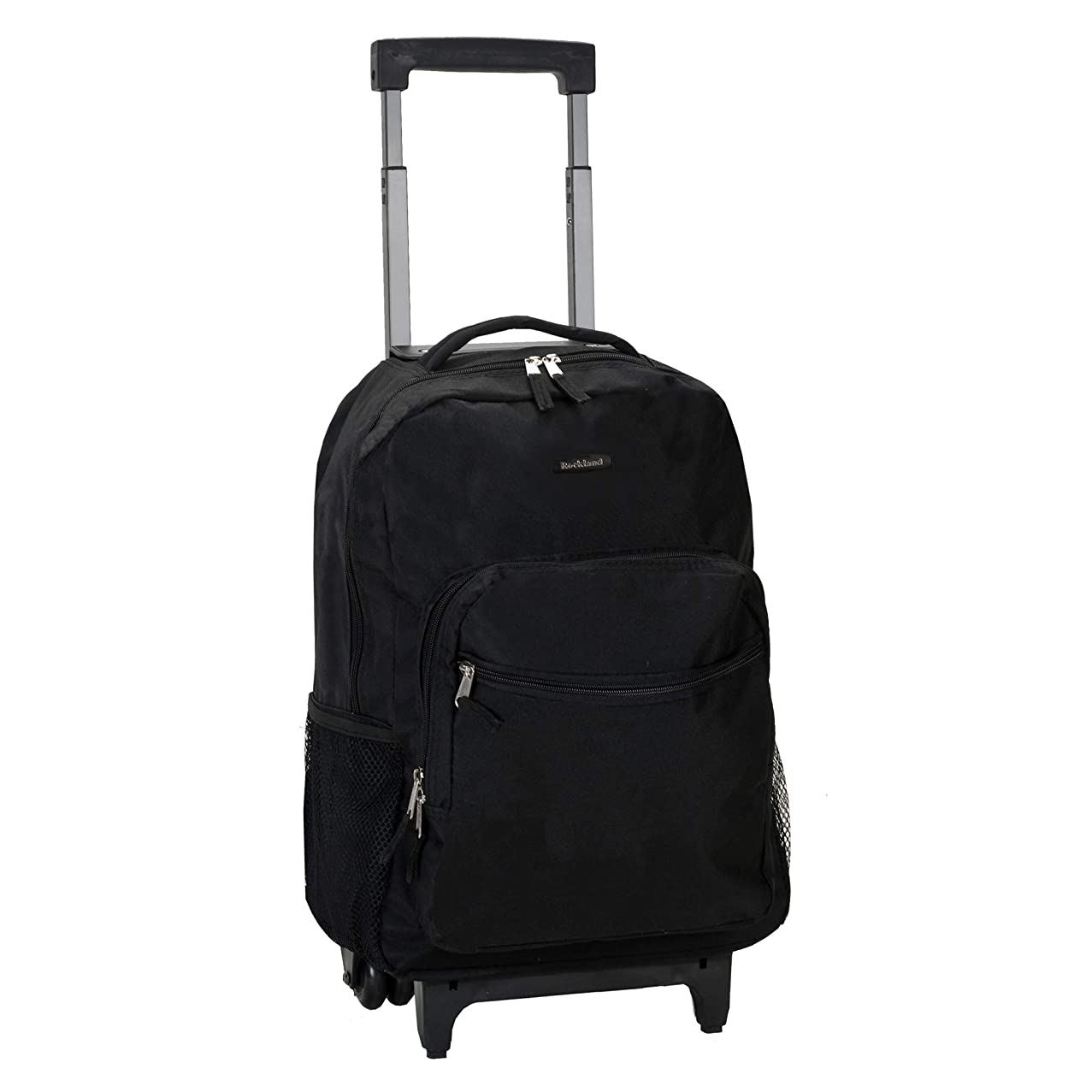 Rockland Luggage 17 Inch Rolling Backpack, Black, Medium