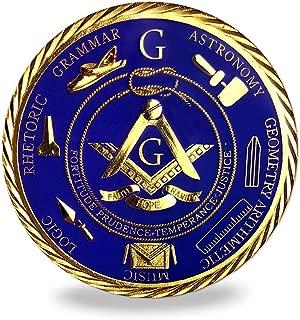 Freemason Masonic Brotherhood Car Emblems Gold Plated in Blue Masonic Accessories Gifts