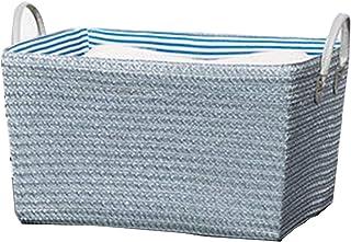 Populaire Panier de rangement de tissu Boîtier de rangement des débris tissé en rotin Mettez des paniers à vêtements, une ...