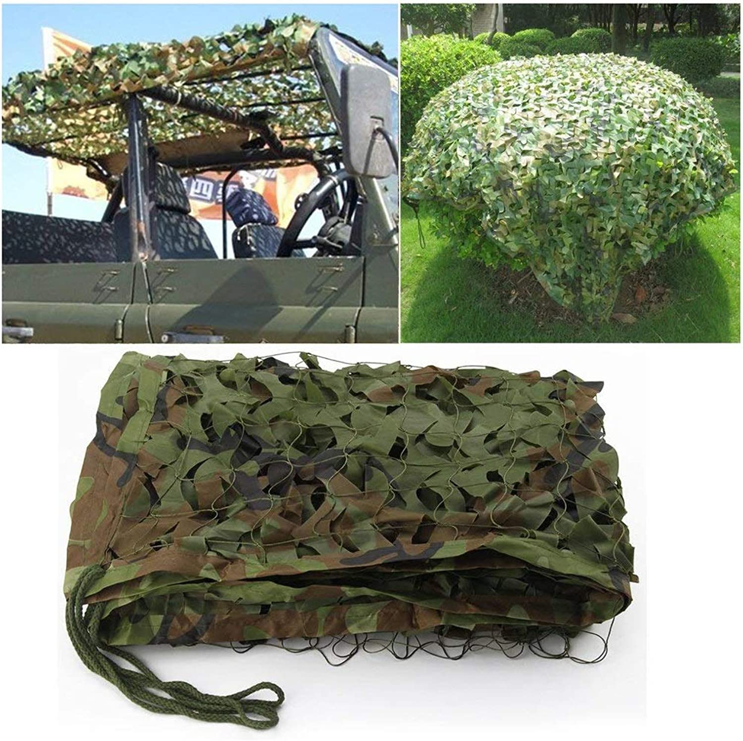 Camouflage Net Oxford Cloth Thickening for Outdoor Hidden Sunshade Shooting Military AntiUV Halloween Decoration (color   B, Size   10m20m)