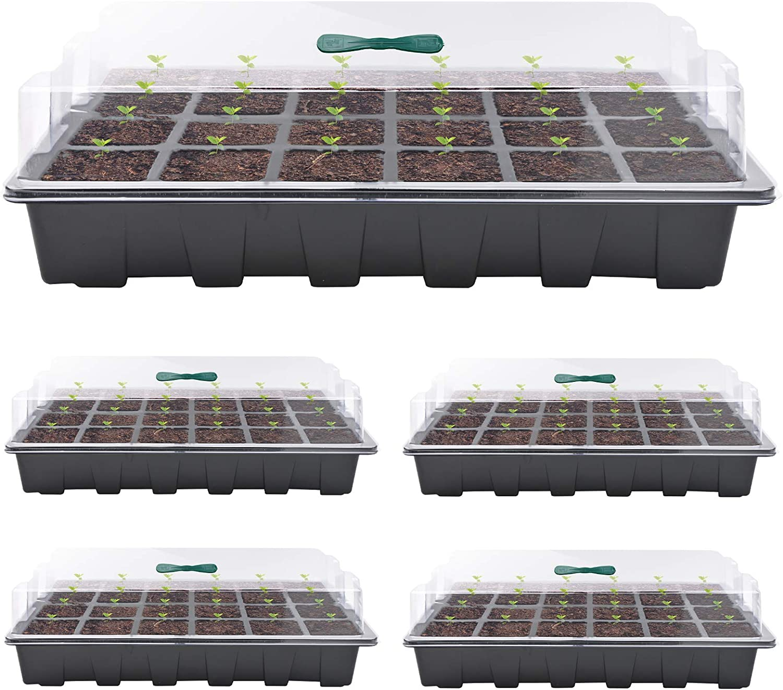 Seed Starter Max 80% OFF Washington Mall Tray Plant Germination Kit Growing Propagator Mini