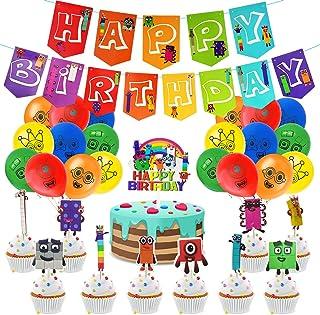 Numberblocks Birthday Party Supplies,Numberblocks Theme Party Decoration