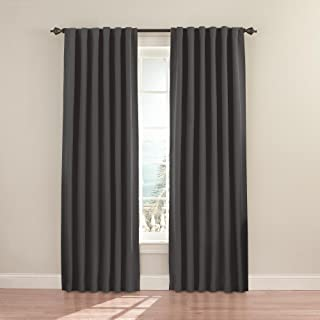 ECLIPSE Fresno Thermal Insulated Single Panel Rod Pocket Darkening Curtains for Living Room, 52