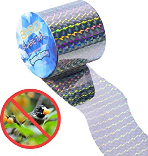CandyHome Bird Repellent Scare Tape - 350 Ft Double Sided Reflective Bird Deterrent Tape for Grackles, Woodpeckers, Herons, Blackbirds, Pigeon Control and More, Sturdy & Ultra Strong