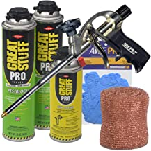 AWF PRO Dow Great Stuff Pro Pestblock Foam Sealant Kit Professional Foam Gun, Great Stuff Foam Cleaner Copper Mesh and Gloves
