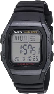 Casio Men's Quartz Watch, Digital Display and Resin Strap W96H-1B