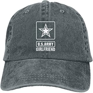 Proud US Army Girlfriend Denim Hats Adjustable Jeans Caps Baseball Cap Dad Hats