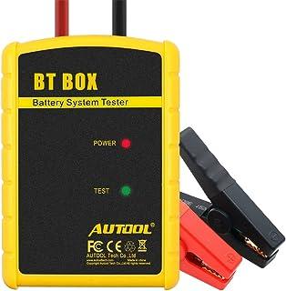 Batterietester 12V Digital KFZ Auto Bluetooth( ANDROID & IOS), AUTOOL Professional CCA 100 2200 Autobatterie Analysator Voltmeter, Kurbeln/Aufladen Prüfer für AGM,GEL Auto/Boot/Motorrad und Mehr