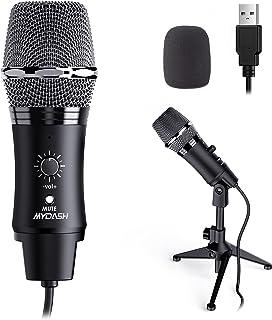 میکروفون USB برای رایانه ، میکروفون متراکم کننده MYDASH برای رایانه شخصی PS4 PS5 ، میکروفون Studio Cardioid برای ضبط صدا پخش پادکست جلسه بازی و فیلم های YouTube
