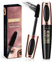 Natural 4D Silk Fiber Lash Mascara, Lengthening and Thick, Long Lasting, Waterproof & Smudge-Proof, All Day Exquisitely Lu...