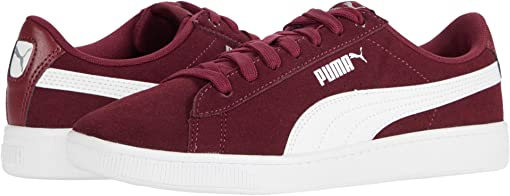 Burgundy/Puma White/Puma Silver