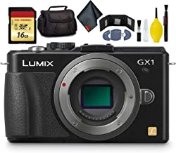 $195 » Panasonic LUMIX DMC-GX1 Mirrorless Micro Four Thirds Digital Camera-KitBox-NoLens (Black) - Battery Pack - Battery Charger - 16GB Card - Card Wallet - Reader - Soft CASE + More