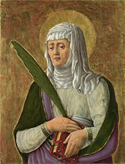 Oil Painting 'Giorgio Schiavone A Female Saint', 12 x 16 inch / 30 x 40 cm , on High Definition HD canvas prints is for Gifts And Dining Room, Game Room And Study Room Decoration, images