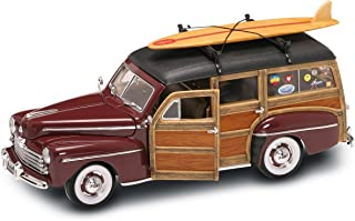 Yat Ming Scale 1:18 - 1948 Ford Woody with Real Wood Panel and Surfboard