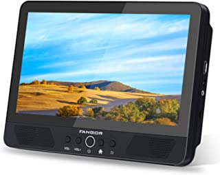 "FANGOR 10.1"" Portable DVD Player/Android WiFi Touch Screen Tablet, Quad-Core 1.3GHz with 16GB Storage, Support HDMI Out, USB & SD Card Reader, Built-in Rechargeable Battery, Region Free"