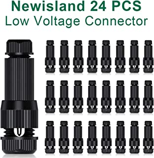 Newisland Low Voltage Fastlock Landscape Wire Connector 12-14 Gauge Cable Connectors for Landscape Path Lights Work with Malibu Paradise Moonrays and More (24Pcs)
