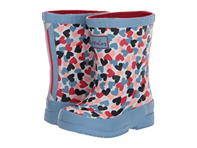 Joules Kids Welly Print (Toddler) (White Hearts) Girl