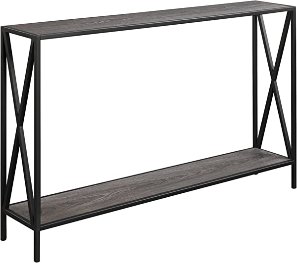 Convenience Concepts 161899WGY Tucson Console Table Weathered Gray