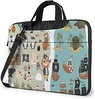 """Funny Animal Characters Laptop Bag Protective Case Computer Messenger Briefcase Women Men 13"""""""