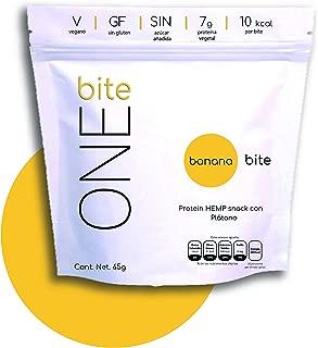 BANANA BITE │ Barritas de Proteina de Hemp con Plátano • Sin Azúcar • Sin Gluten • Vegano (8 Bolsas de 65g)