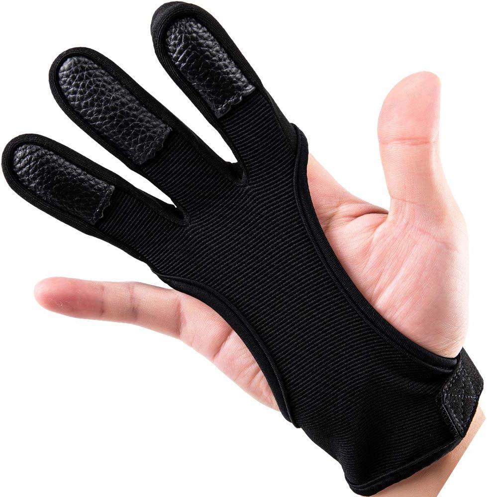 Outonda Philadelphia Mall Archery Gloves Shooting Hunting Award Three Leather Finger Pro