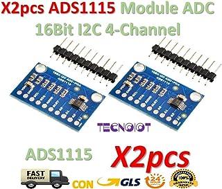 TECNOIOT 2pcs ADS1115 Module ADC Module 16Bit I2C 4-Channel ADS 1115   2pcs Modulo Ads1115 16 bits ADC I2c 4 Canales con Amplificador De Ganancia para RPI Arduino