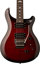 PRS Paul Reed Smith SE Custom 24 Floyd Rose Electric Guitar with Gig Bag, Fire Red Burst